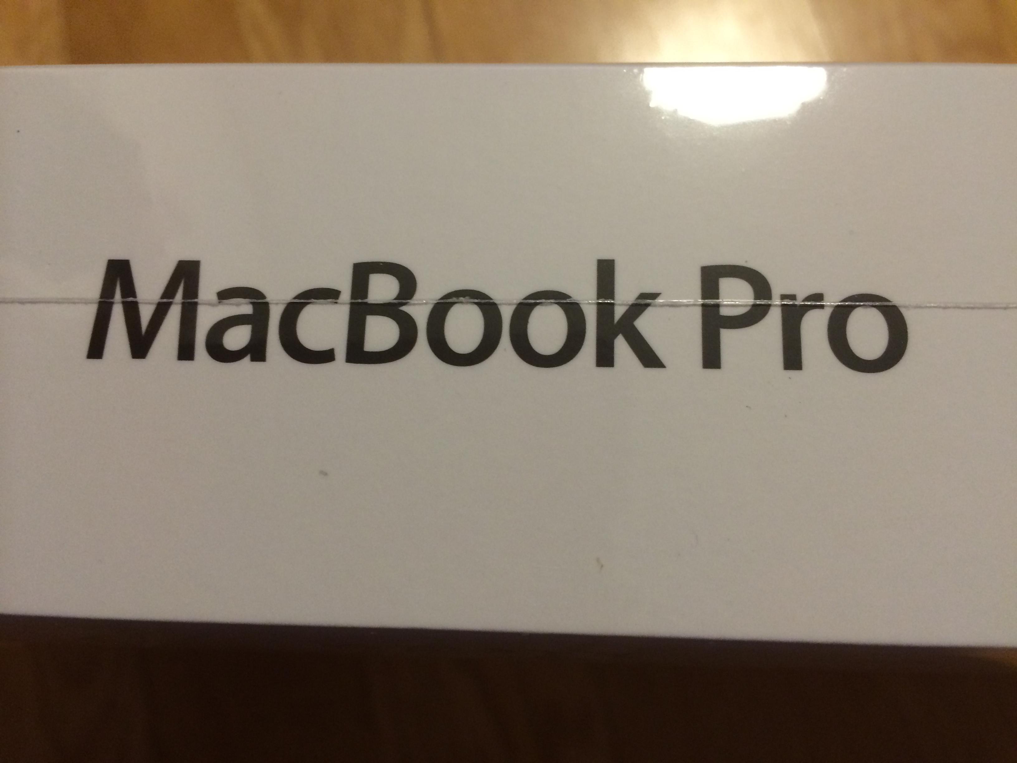 MacBookProを買いました!開封レビュー