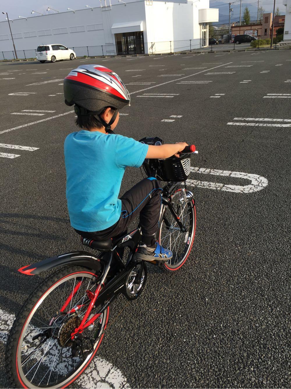 ランニング日誌  20160416 長男の自転車
