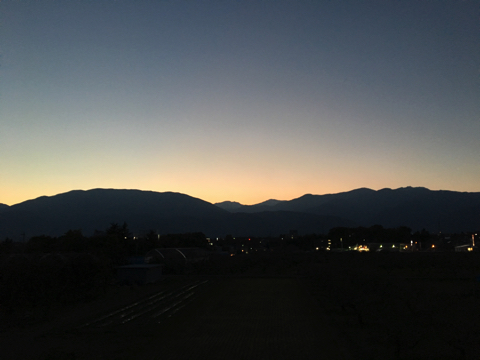 南プスの夕日